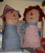 Americana Ann & Andy Shelf Sitters