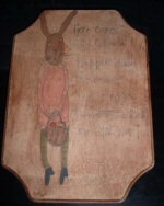 Polly Cottontail Folk Art Painting