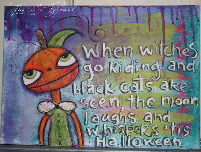 'Tis Halloween painting
