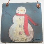 Painted Snowman Ornament 1