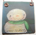 Painted Snowman Ornament 4