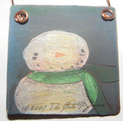 Painted Snowman Ornament 4