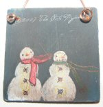 Painted Snowman Ornament  5