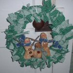 Snowman Rag Wreath