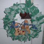 Snowman Rag Wreath