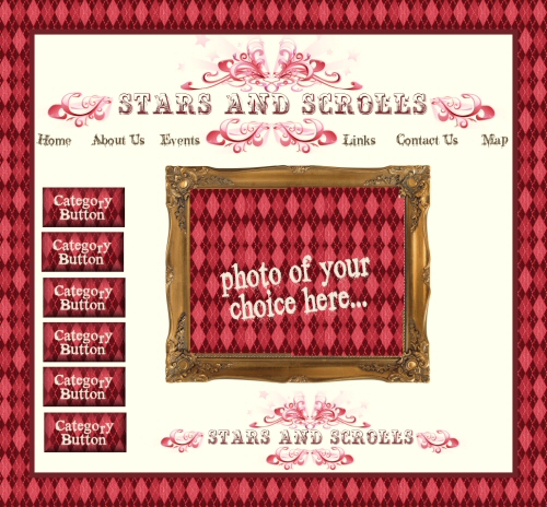 Scrolls & Stars Web Site Graphics