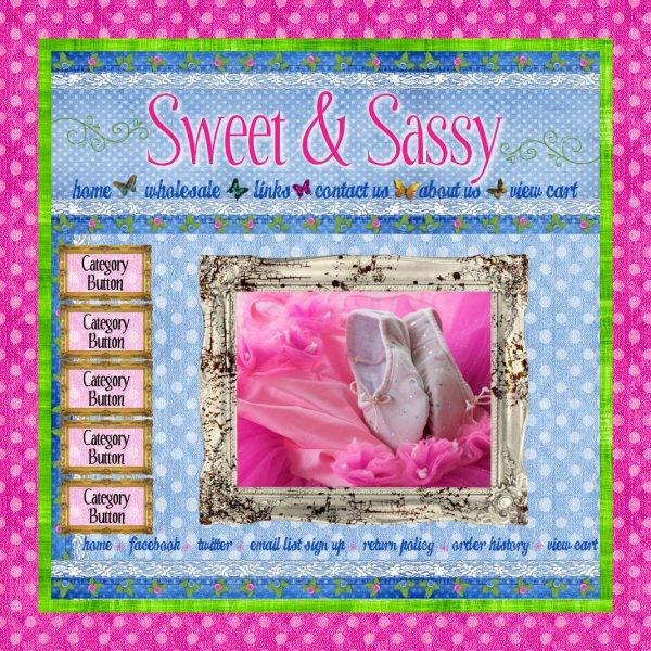 Sweet & Sassy website graphics