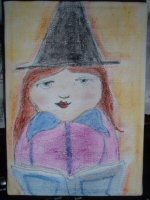 Little Witch Painting