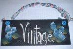 """""""Vintage"""" Roses Sign"""