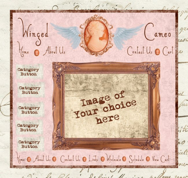 Winged Cameo Graphics Set