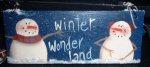 Winter  Wonderland Snowman Sign