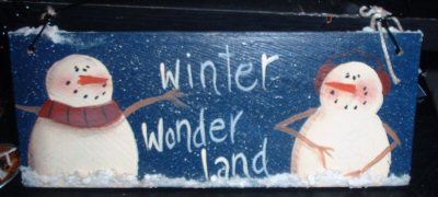 Winter  Wonderland Snowman Sign