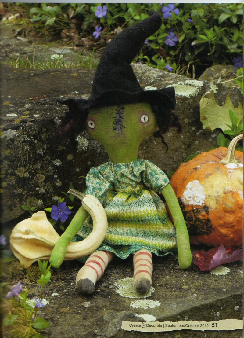 Witchy Woman Doll--Reserved for Sarah M.