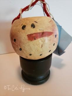 Gourd Snowman Bucket