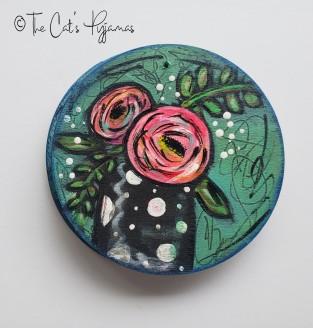 Polka Dot Vase Ornament