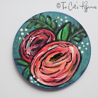 Pink Flowers Ornament