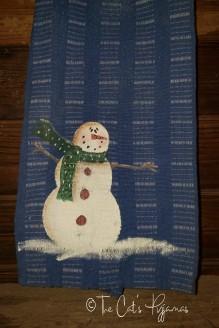 Snowman Dish Towel