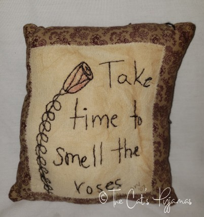 Smell the Roses pillow