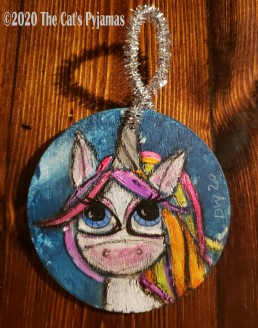 Artemis the Unicorn ornament