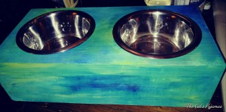 SOLD Custom pet bowls