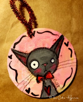 Valentine Kitty ornament