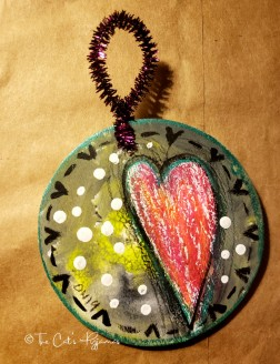 Hearts & Dots ornament