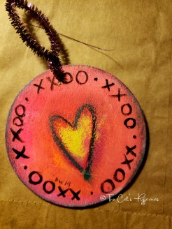 Neon heart ornament
