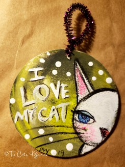 I Love My Cat ornament