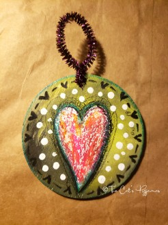 Funky Heart ornament