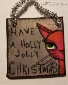 Holly Jolly Christmas ornament
