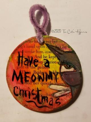 Meowmy Christmas ornament
