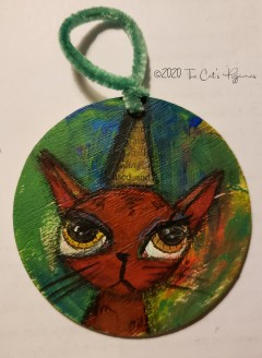 Party Kitty ornament