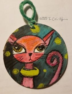 Pink Cat ornament