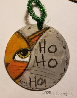 Ho ho cat ornament