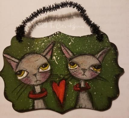 Two Kitties ornament