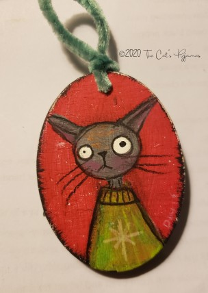 Green sweater ornament