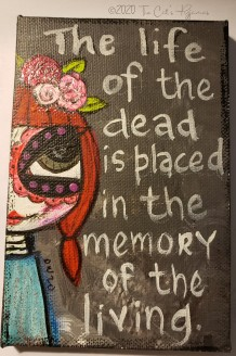 The life of the dead....