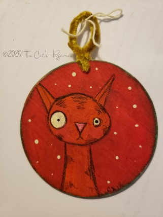 Nervous Kitty ornament