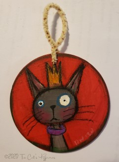 Queen Gray Kitty ornament