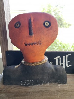 Primitive Pumpkin Shelf Sitter