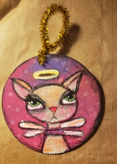 Carly Cat ornament