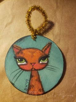Ollie the Cat ornament