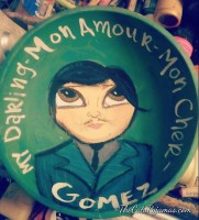 Gomez Addams painted bowl