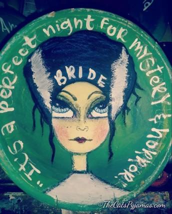 Frankenstein's Bride painted bowl