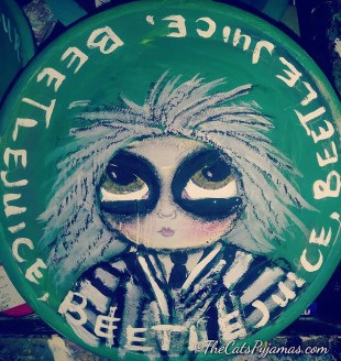 SOLD Beetlejuice painted bowl