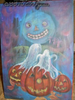 Spooky Halloween painting