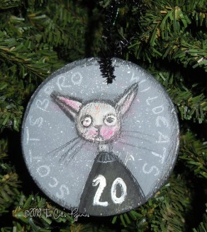 Scottsboro Wildcats Ornament #20 on gray