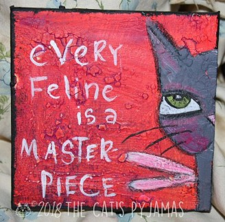 SOLD Feline Masterpiece
