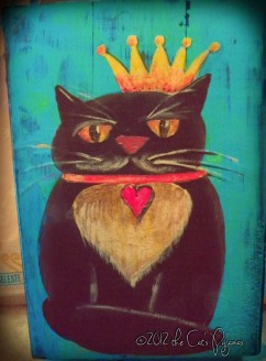 SOLD Princess Kitty painting