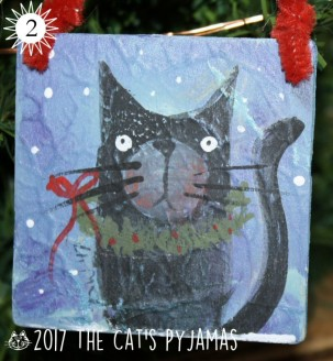 SOLD Fat Cat Ornament